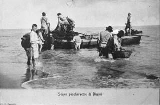 Scene peschereccie di Rimini