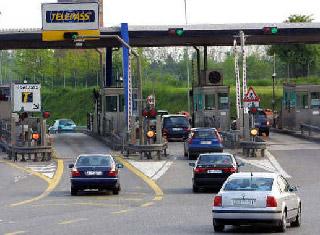 Motorway toll gate