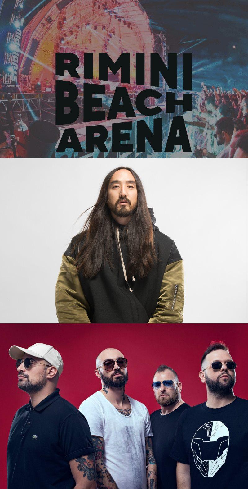Rimini Beach Arena: Boomdabash e Steve Aoki