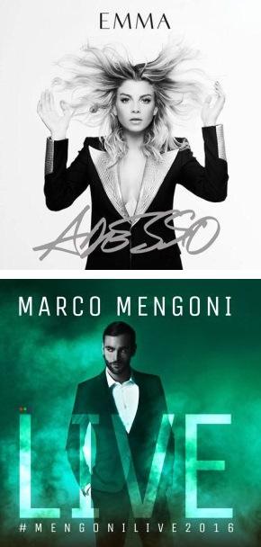 Emma e Marco Mengoni a Rimini