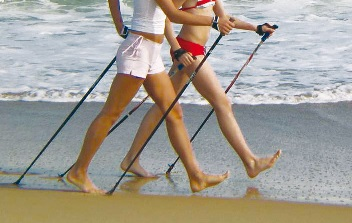 Wellness a Rimini - Nordic Walking in spiaggia