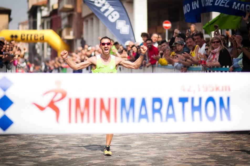 traguardo della Rimini Marathon
