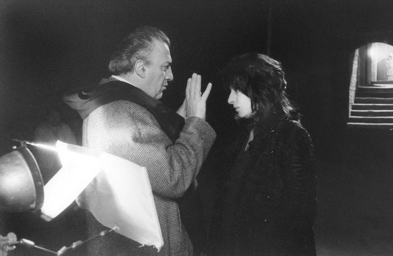 Fellini e Anna Magnani sul set di Roma