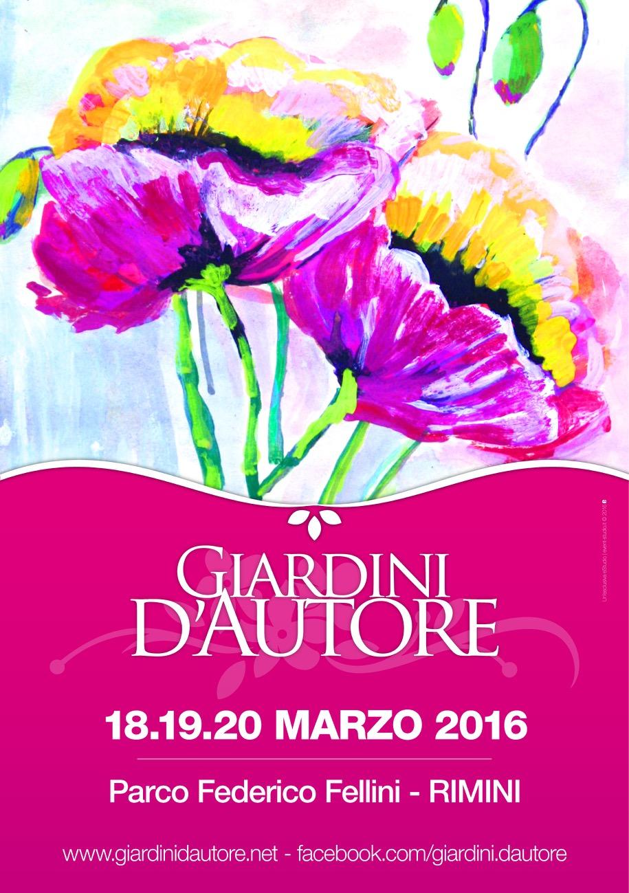 Locandina Giardino d'autore 2016 - Rimini