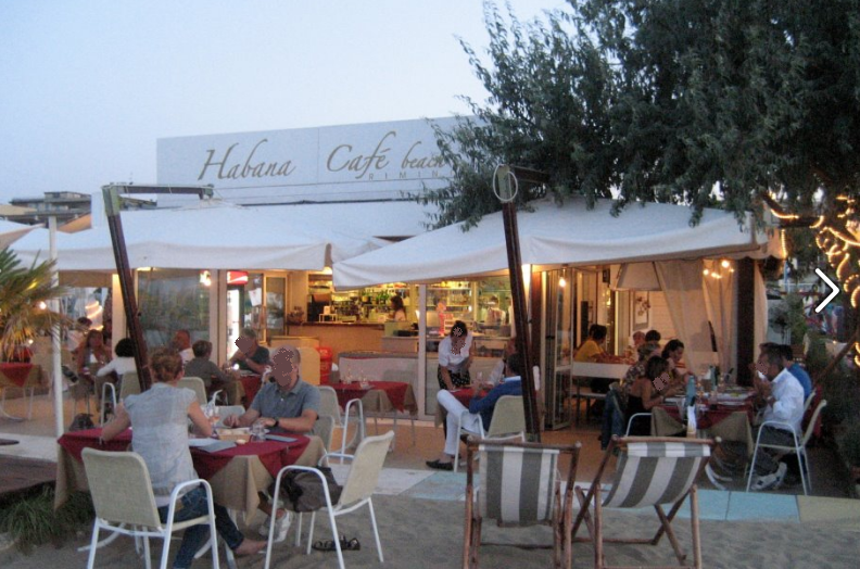 Ristorante bar habana caf beach rimini turismo - Bagno 44 rimini ...