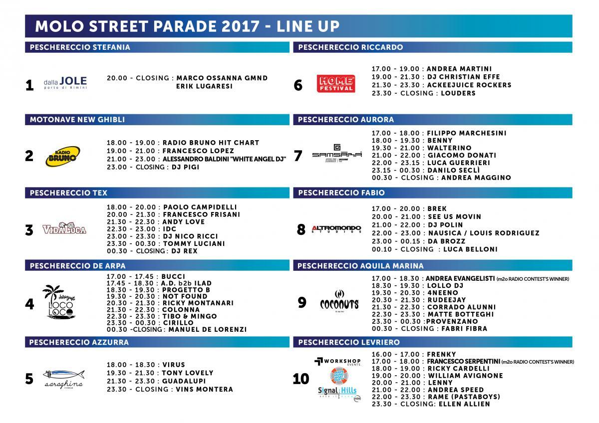 Molo Street Parade: DJ set & Sardoncino | Rimini turismo