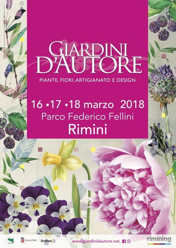 Locandina Giardini d'Autore - primavera 2018