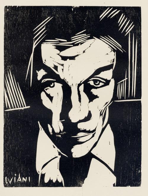 Lorenzo Viani. maschera di Emilio Mantelli