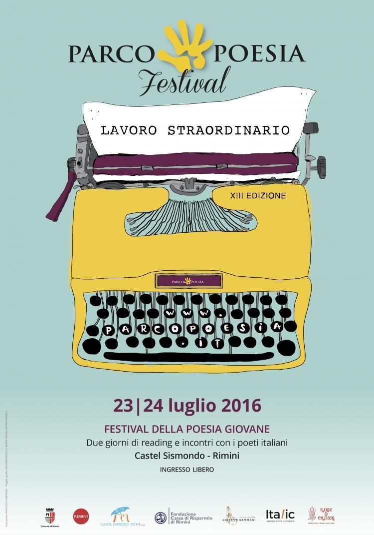 Manifesto Parco Poesia 2016 - Rimini