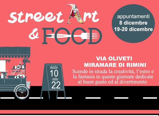 Locandina Street Art & Food a Miramare di Rimini