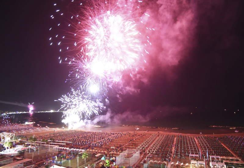 Notte Rosa fireworks display
