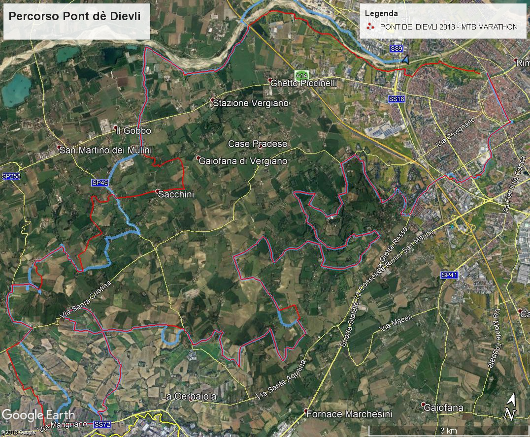 MTB Tour Pont de Dievli Rimini turismo