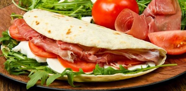 Typycal flatbread of Romagna