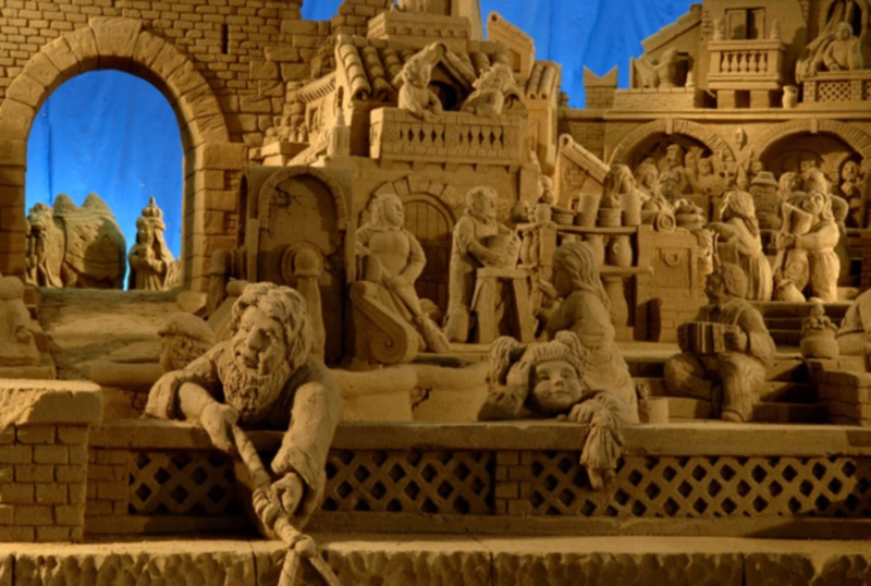 Sand crib in Torre Pedrera