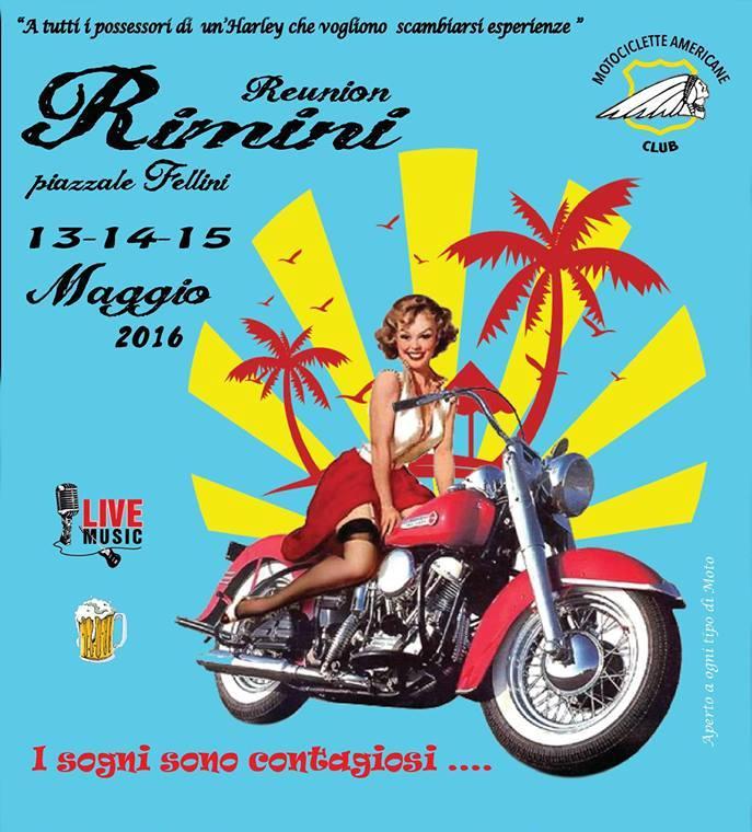 Immagine locandina Reunion Harley Rimini 2016