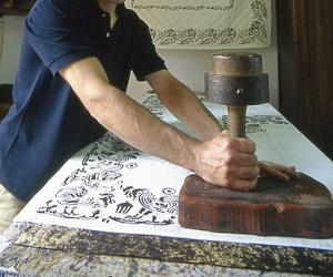 hand-printed cloth