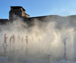 castel Sismondo nella nebbia