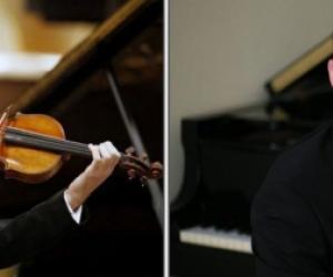 Emmanuel Tjeknavorian violin and Maximilian Kromer piano