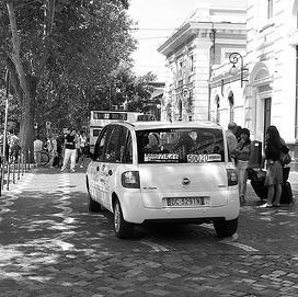taxi at Rimini station